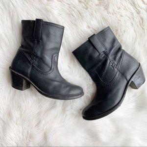 Frye Carmen X Stitch Leather Boots